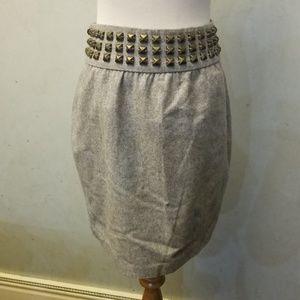 Anthropology Silence + noise studded wool skirt O8